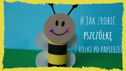 pszczółka z papieru - prace plastyczne dla dzieci